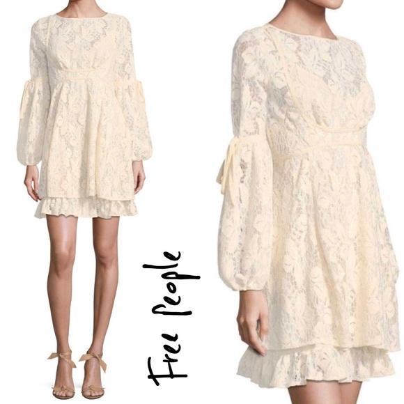 e9d44998624cc Free People Dresses | Nwt Ruby Lace Mini Dress In Ivory | Poshmark